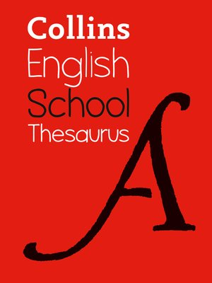 cover image of Collins School Thesaurus