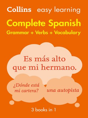 cover image of Easy Learning Spanish Complete Grammar, Verbs and Vocabulary