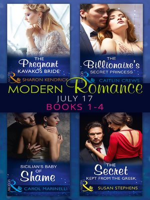 cover image of Modern Romance Collection: July 2017, Books 1-4