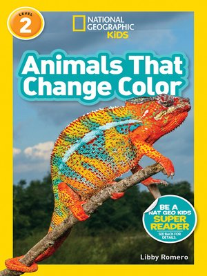 cover image of Animals That Change Color