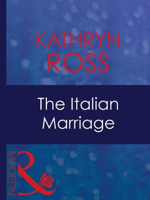 cover image of The Italian Marriage