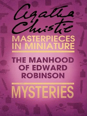 cover image of The Manhood of Edward Robinson