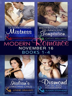 cover image of Modern Romance November 2016 Books 1-4