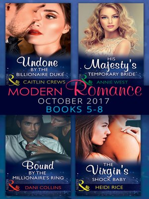cover image of Modern Romance Collection: October 2017 5--8