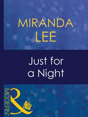 cover image of Just for a Night
