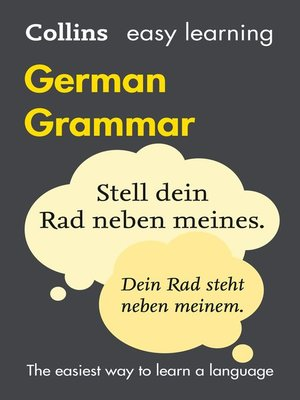 cover image of Easy Learning German Grammar
