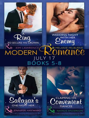 cover image of Modern Romance Collection: July 2017, Books 5-8