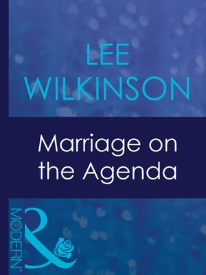 cover image of Marriage on the Agenda