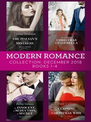 cover image of Modern Romance December Books 1-4