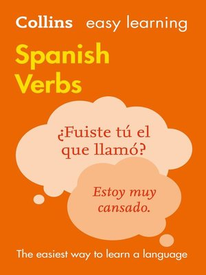 cover image of Easy Learning Spanish Verbs