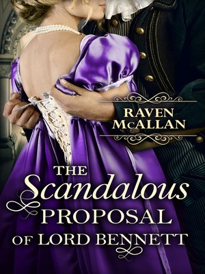 cover image of The Scandalous Proposal of Lord Bennett