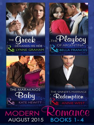 cover image of Modern Romance August Books 1-4