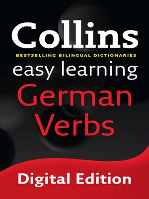 cover image of Collins Easy Learning German Verbs
