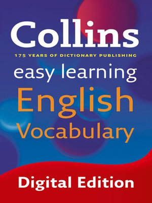 cover image of Easy Learning English Vocabulary (Collins Easy Learning English)