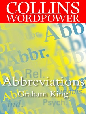 cover image of Abbreviations (Collins Word Power)