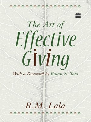 cover image of The Art of Effective Giving