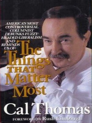 cover image of The Things That Matter Most