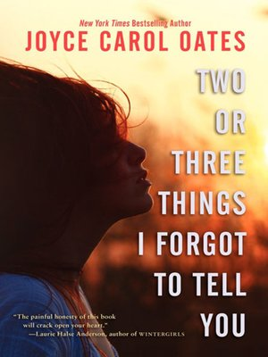 cover image of Two or Three Things I Forgot to Tell You