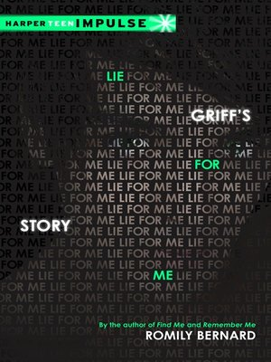 cover image of Lie for Me: Griff's Story