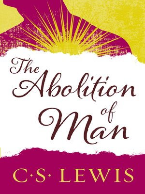 cover image of The Abolition of Man