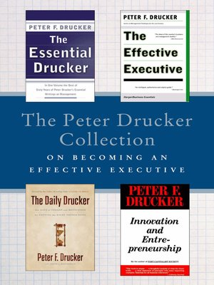 cover image of The Peter Drucker Collection on Becoming an Effective Executive
