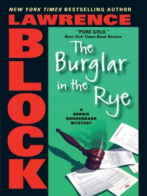 cover image of The Burglar in the Rye