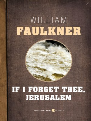 cover image of If I Forget Thee, Jerusalem