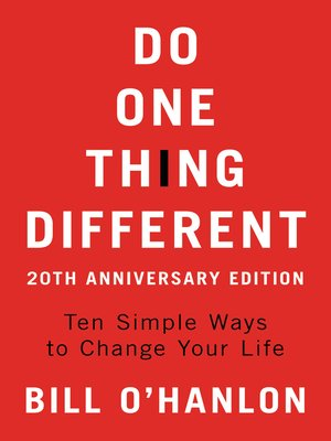 cover image of Do One Thing Different
