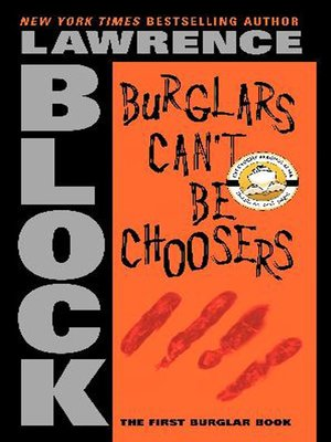 cover image of Burglars Can't Be Choosers