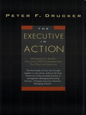 cover image of The Executive in Action