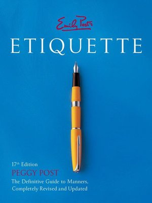 cover image of Emily Post's Etiquette