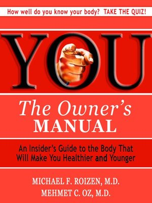 cover image of You: The Owner's Manual