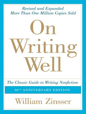 cover image of On Writing Well, 30th Anniversary Edition