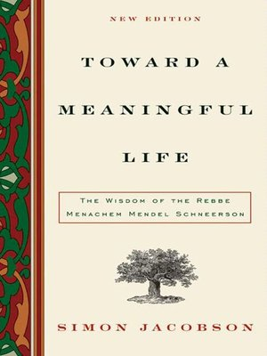 cover image of Toward a Meaningful Life, New Edition