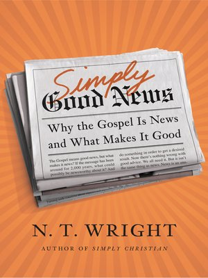 cover image of Simply Good News