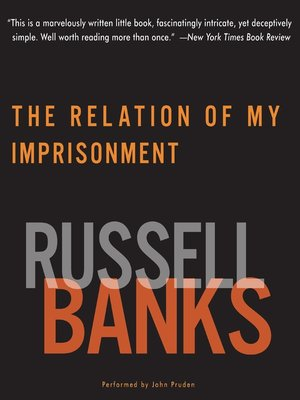 cover image of Relation of My Imprisonment
