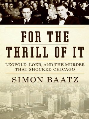 cover image of For the Thrill of It