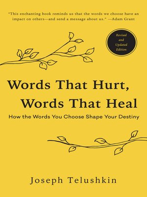 cover image of Words That Hurt, Words That Heal, Revised Edition