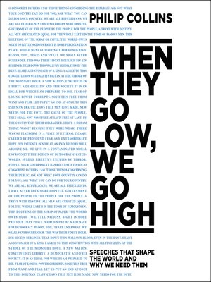 cover image of When They Go Low, We Go High