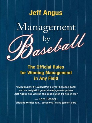 cover image of Management by Baseball