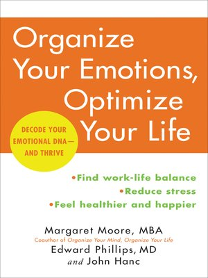 cover image of Organize Your Emotions, Optimize Your Life