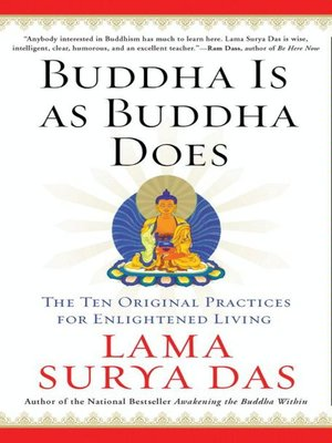 cover image of Buddha Is as Buddha Does