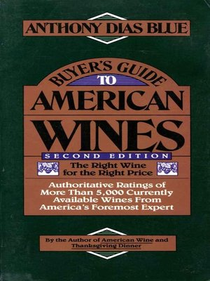 cover image of Buyer's Guide to American Wines