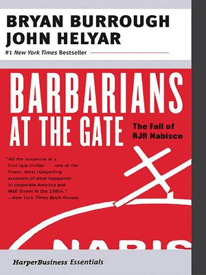 cover image of Barbarians at the Gate
