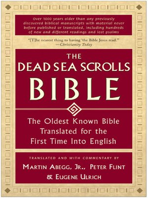 cover image of The Dead Sea Scrolls Bible
