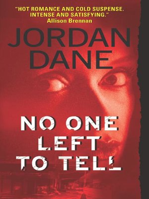 cover image of No One Left To Tell