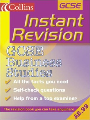 cover image of Instant Revision: GCSE Business Studies