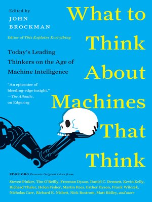 cover image of What to Think About Machines That Think