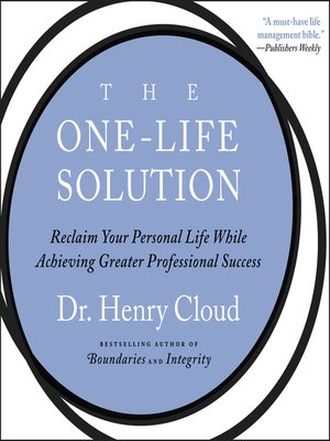 cover image of The One-Life Solution