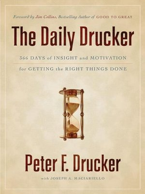 cover image of The Daily Drucker